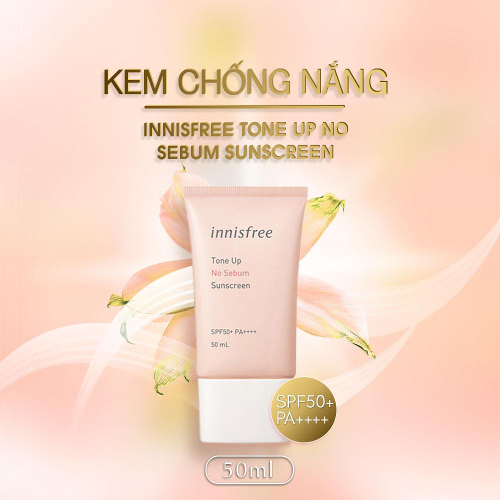 Kem Chong Nang Innisfree Ton Up No Sebum Sunscreen Nacos