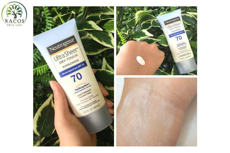Kem Chong Nang Neutrogena Ultra Sheer Dry Touch Nacos
