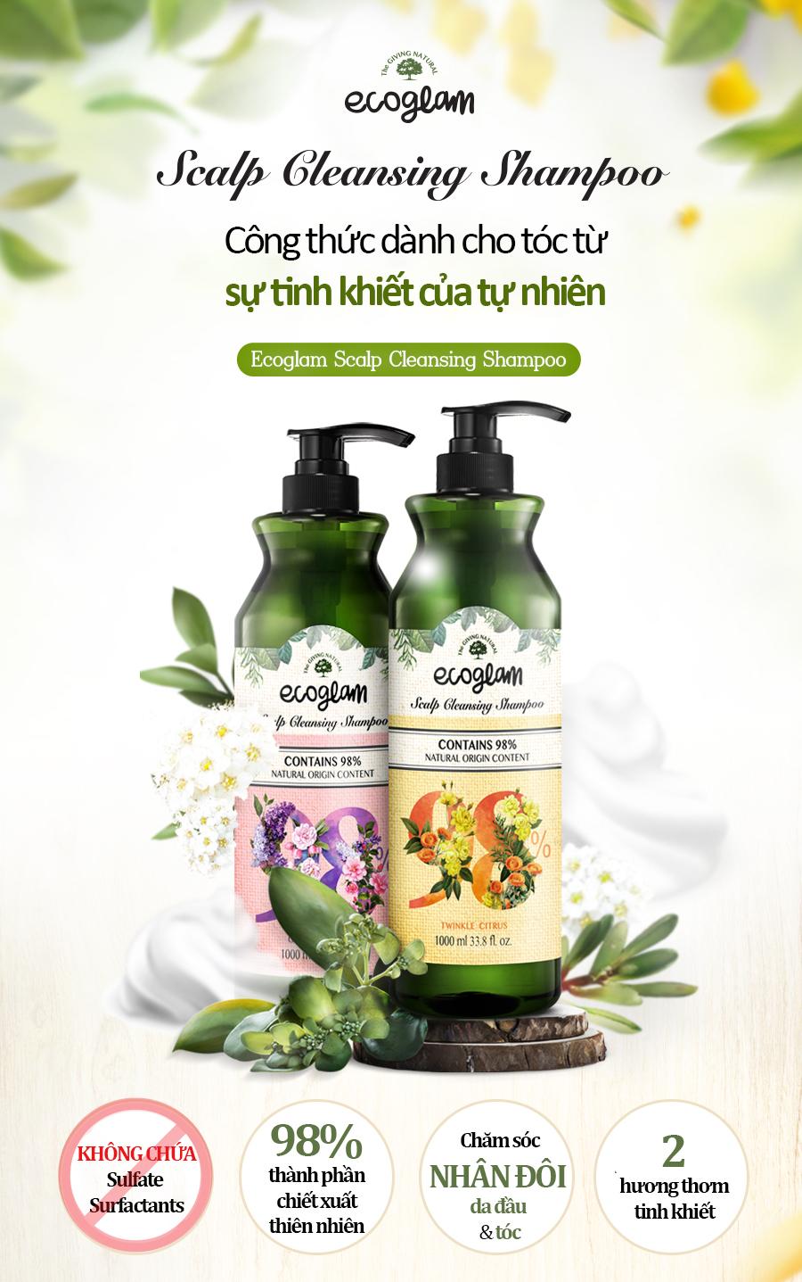 Dau Goi Ecoglam Scalp Cleansing Shampoo